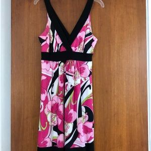Pretty pink dress. Easy care